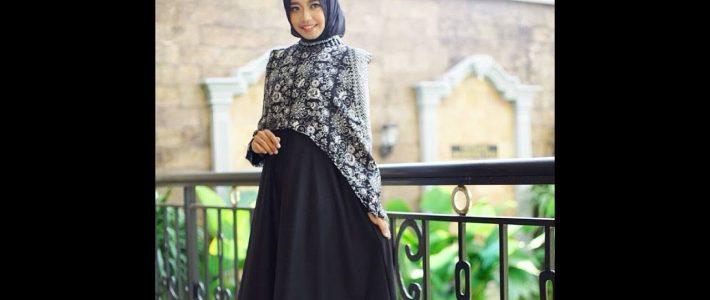 Model Gamis Batik Kombinasi Modern Masa Kini