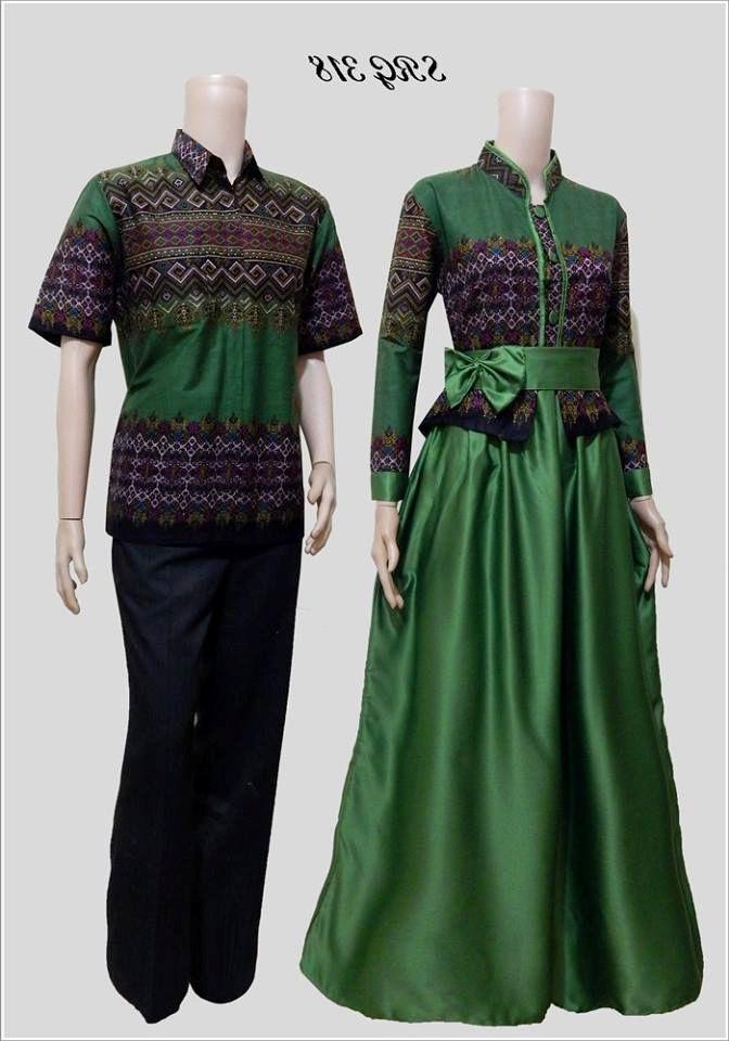 Model Baju Couple Batik Untuk Muslim yang Kekinian