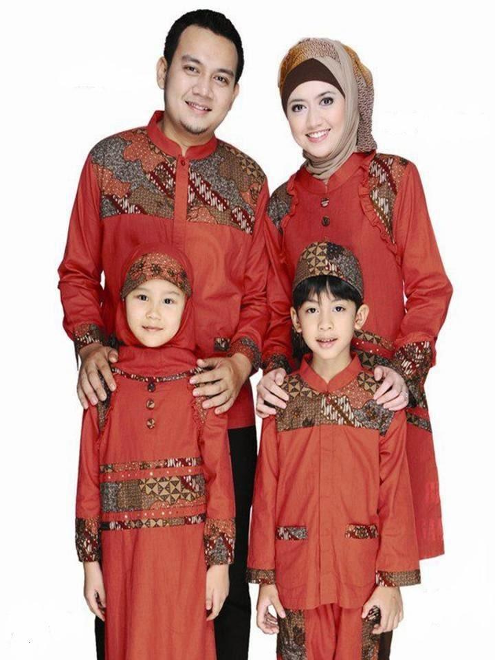 Model Baju Batik Gamis Sarimbit Serasi Idaman