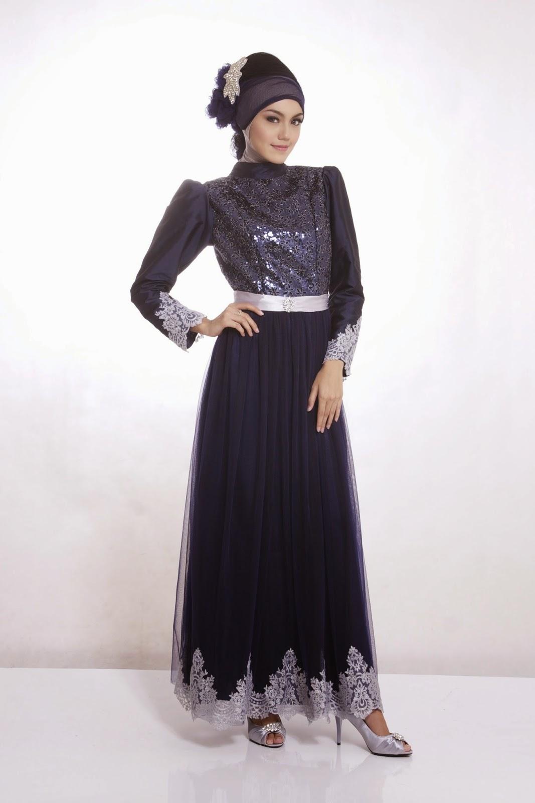 Model Baju Gamis Pesta Cocok Untuk Muslimah Fashionable