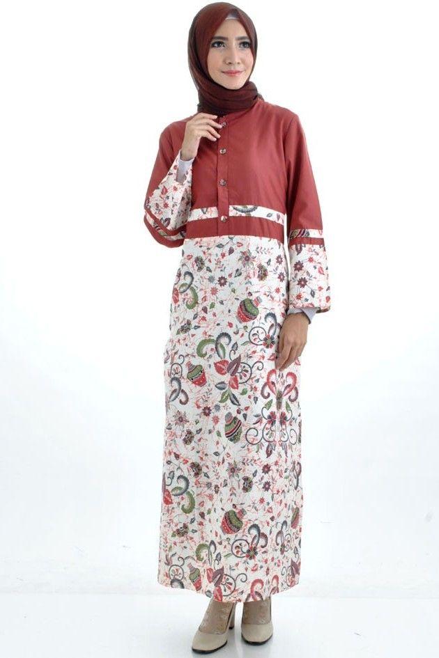 Variasi Model Blouse Batik Muslim yang Sangat Menawan