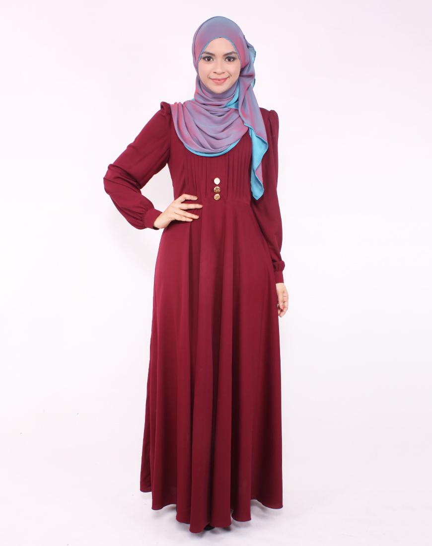 Model Long Dress Lengan Panjang Berbahan Lembut Anggun