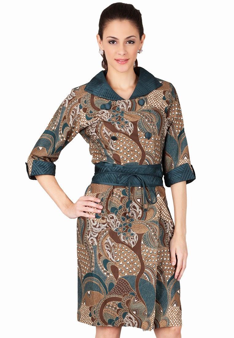 Model Dress Batik Casual untuk Wanita Modern