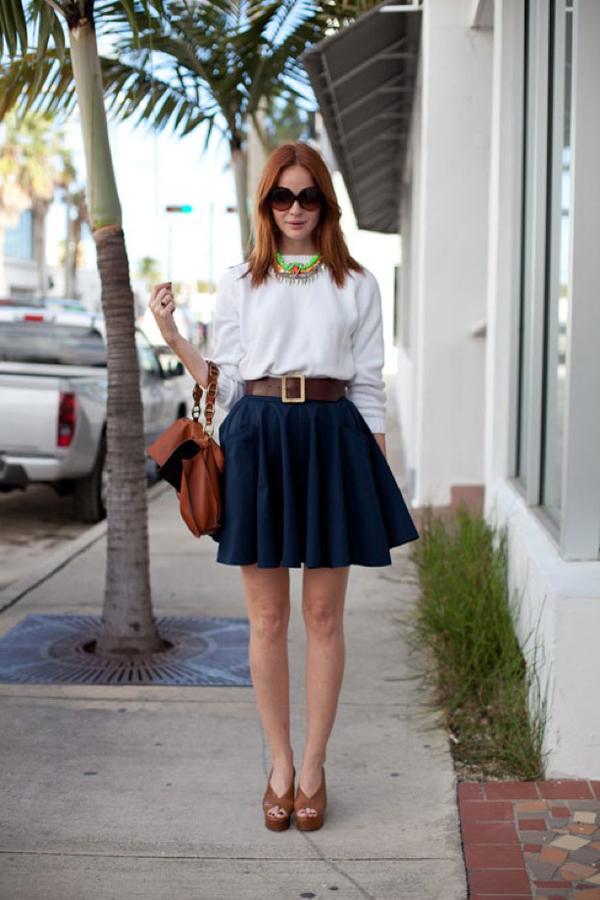 Model Long Dress Bahan Sifon yang Feminim